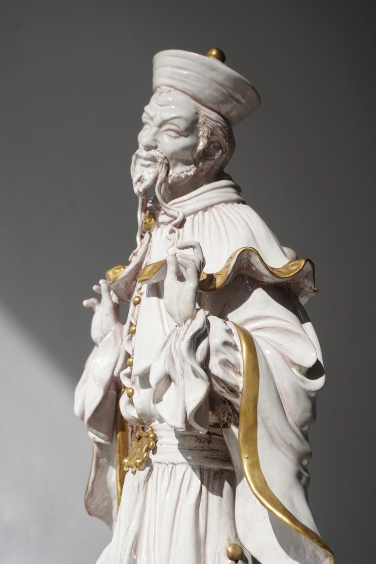 Italian Porcelain Figure by Batiguani For Sale 2