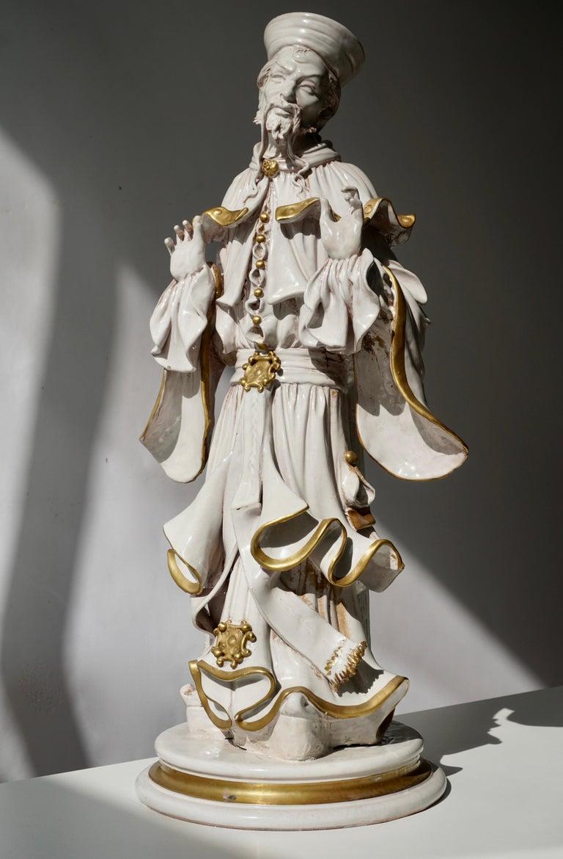 Italian Porcelain Figure by Batiguani For Sale 3