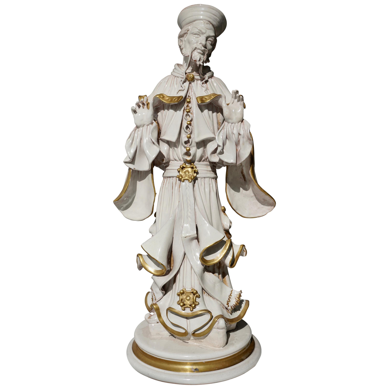 Italian Porcelain Figure by Batiguani