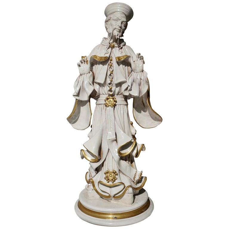Italian Porcelain Figure by Batiguani For Sale
