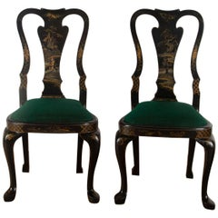 Chinoiserie Japanned Side Chairs