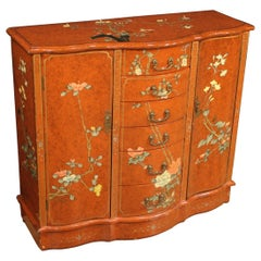 Chinoiserie Lacquered French Sideboard, 20th Century