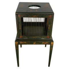 Chinoiserie Lacquered Game Bird Cage Table