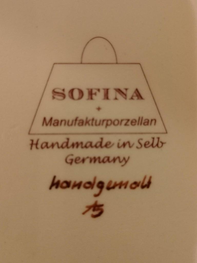 Moderne German ovale Chinoiserie Porzellan Gebäck Teller handbemalt Sofina Boutique 9
