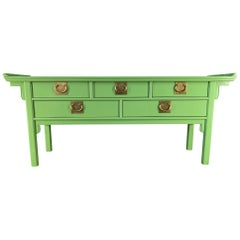 Chinoiserie Pagoda Console Table by Century Furniture