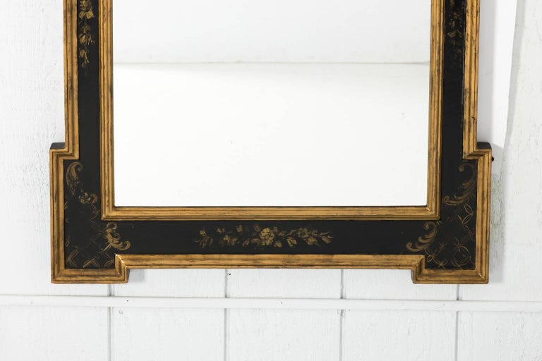 Chinoiserie Painted Giltwood Mirror In Good Condition In Stamford, CT