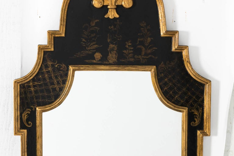 20th Century Chinoiserie Painted Giltwood Mirror