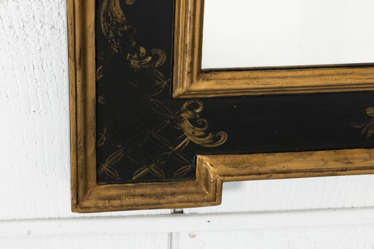 Chinoiserie Painted Giltwood Mirror 2
