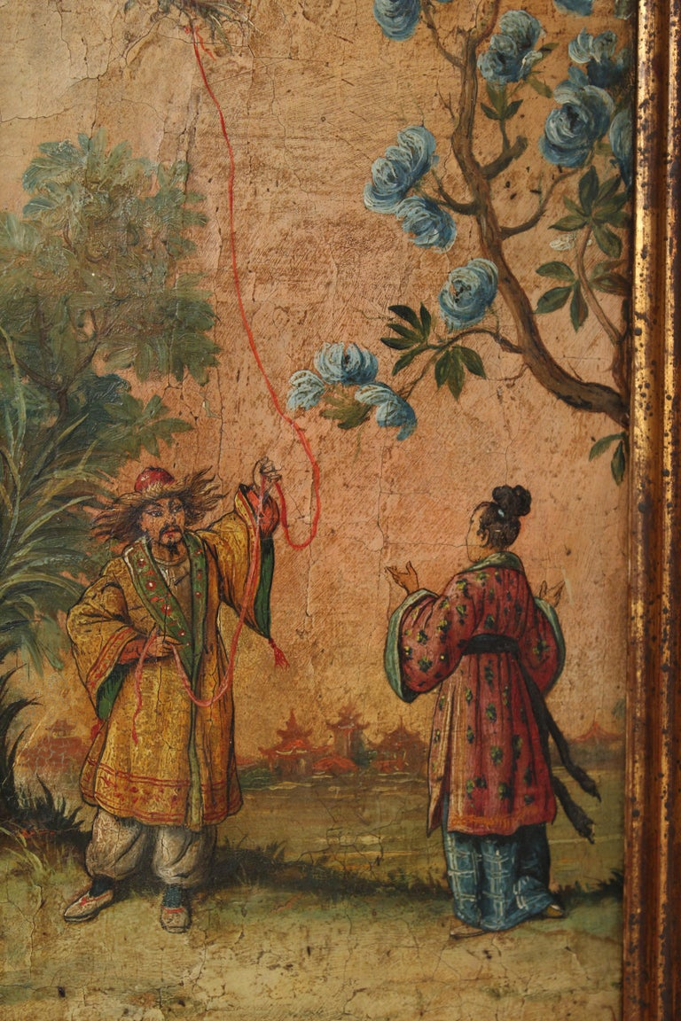 Chinoiserie Painted Italian Mirror For Sale 7