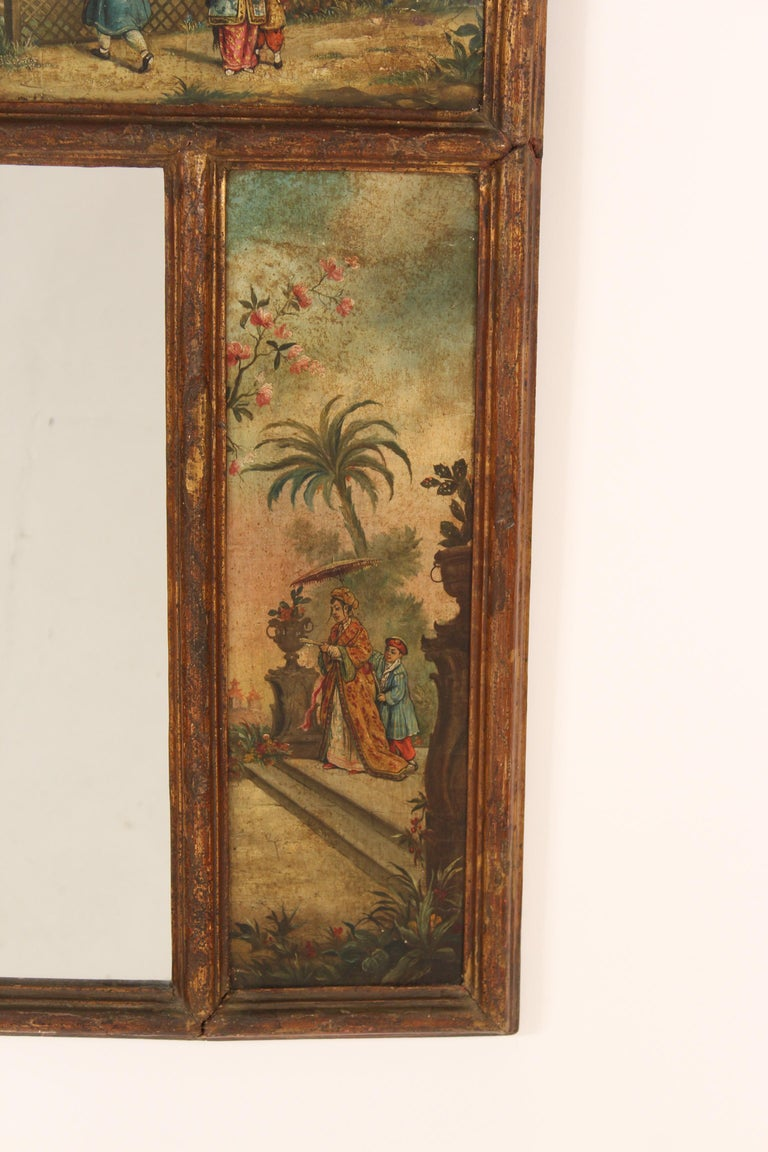 Chinoiserie Painted Italian Mirror For Sale 1