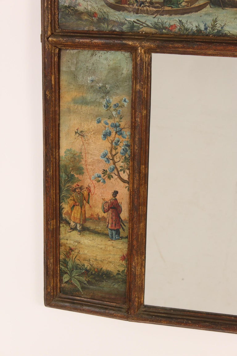 Chinoiserie Painted Italian Mirror For Sale 2