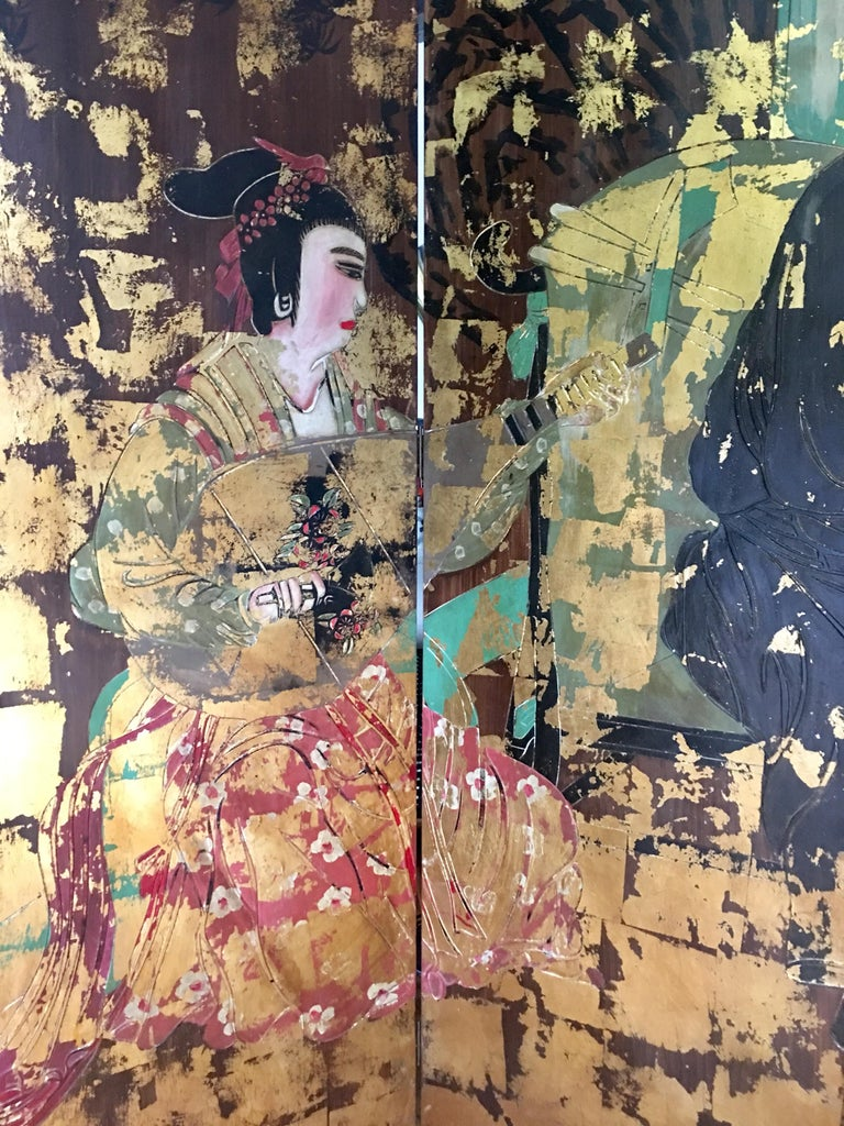 Chinoiserie Room Divider Folding Screen For Sale 2