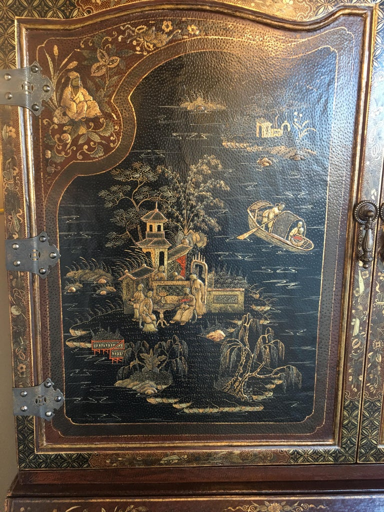 Chinoiserie Secretary For Sale 4