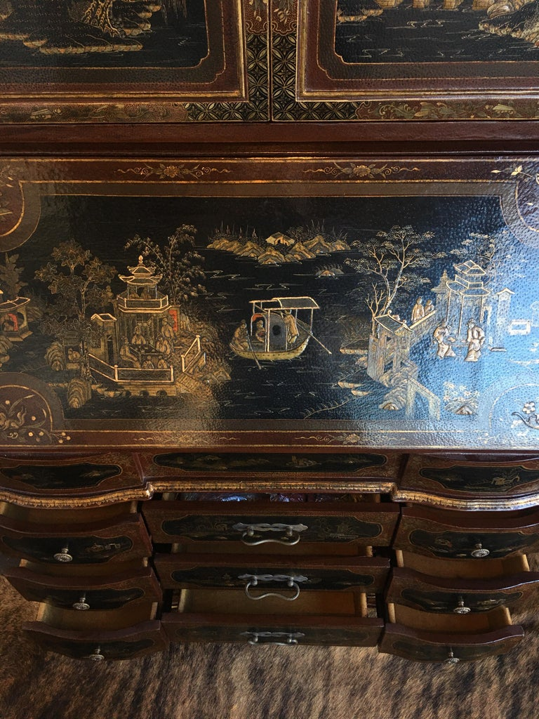 Chinoiserie Secretary For Sale 6