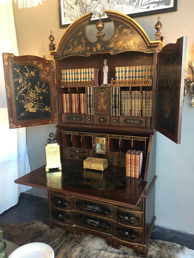 English Chinoiserie Secretary For Sale