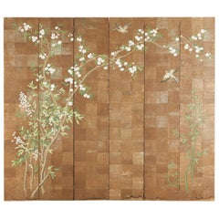 Chinoiserie Six-Panel Screen Inspired by Robert Crowder