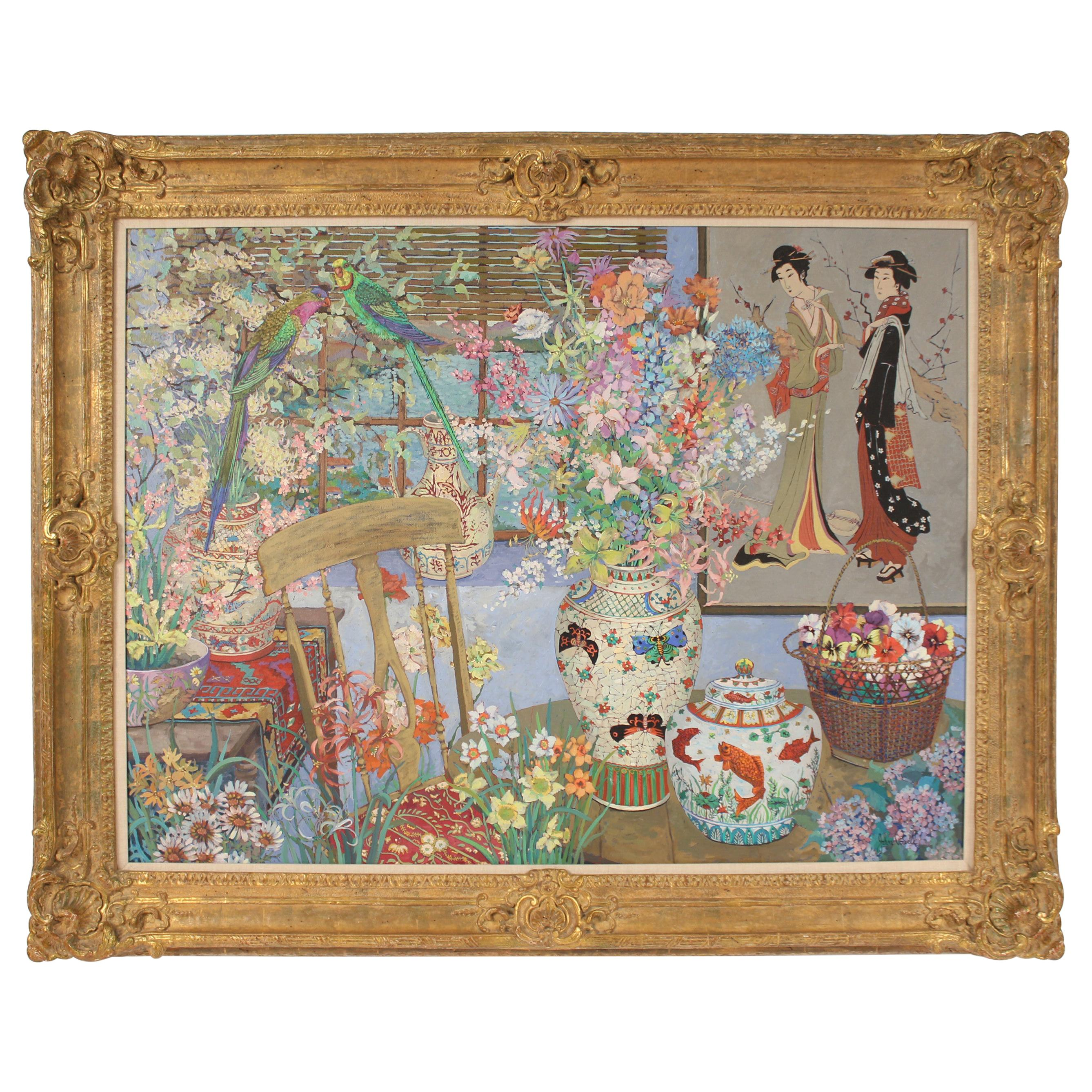 Chinoiserie Still Life Painting by John Powell