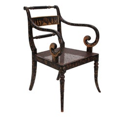 Chinoiserie Style Open Armchair