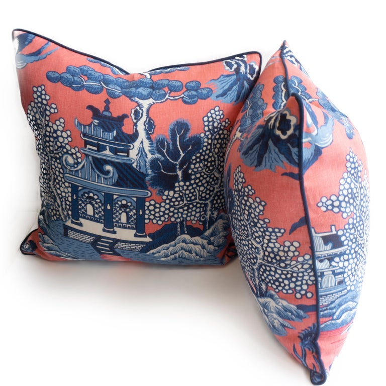 American Chinoiserie Throw Pillows For Sale