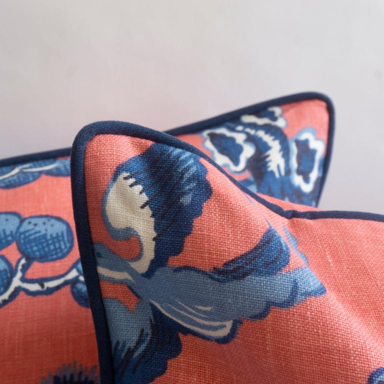Chinoiserie Throw Pillows In Excellent Condition For Sale In Westport, CT