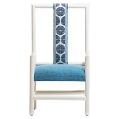 Chinoiserie Blue and White High Back Chair from the Miami Viceroy