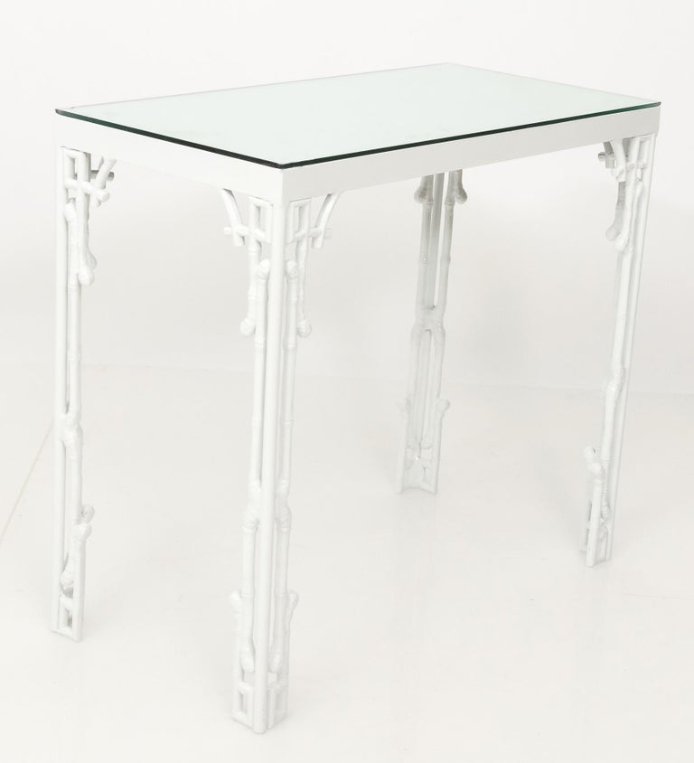 Vintage Marble Top Console Table Outdoor