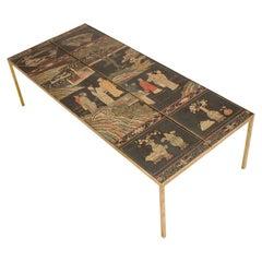 Chinoiseries Decorated Coffee Table, circa 1900