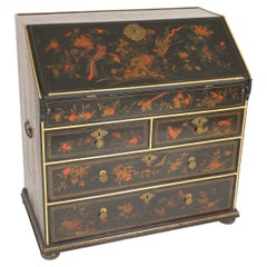 Chinoisserie Decorated Slant Top Desk