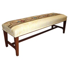 Chinoserie Appointed English Long Bench