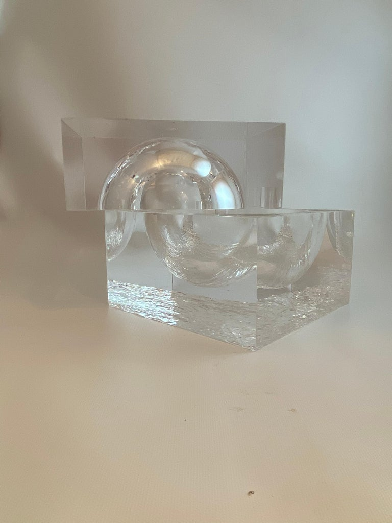 Chipped Ice Lucite Ice Bucket For Sale 1
