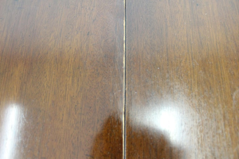Chippendale Baker Cherry Banded Extendable Dining Table For Sale 5