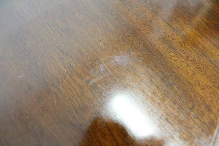 Chippendale Baker Cherry Banded Extendable Dining Table For Sale 4