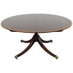 Chippendale Baker Cherry Banded Extendable Dining Table