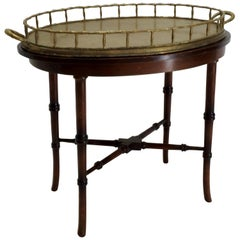 Chippendale Brass Tray Table