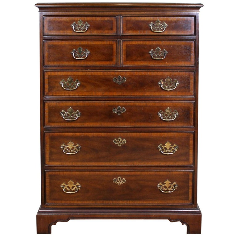 Chippendale Chest of Drawers Tall Highboy Chest For Sale