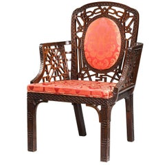 """Chippendale Design Armchair. From the """"Chinese Period"""""""