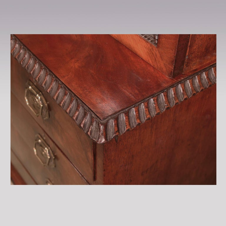 Chippendale Design Mahogany Small Display Bookcase For
