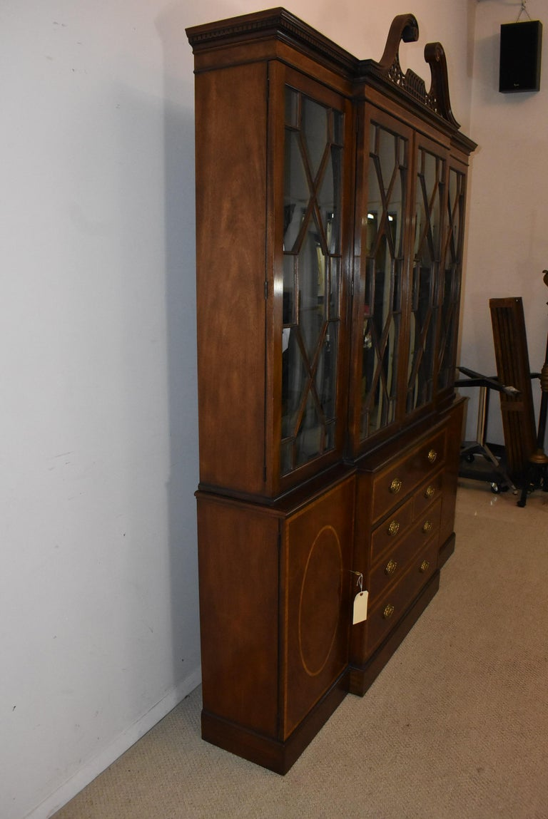 Chippendale Mahogany Breakfront Secretary Collectors Edition By Baker Furniture For Sale 4