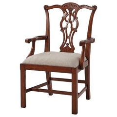 Chippendale Mahogany Dining Armchair