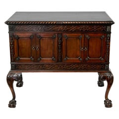 Chippendale Mahogany Double Cabinet on Legs