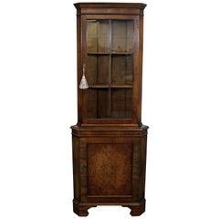 Chippendale Mahogany Pocket Corner Cabinet