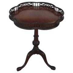 Chippendale Mahogany Tripod Table with Decorative Gallery Edge