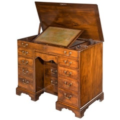 Chippendale Period Kneehole Desk or Dressing Table