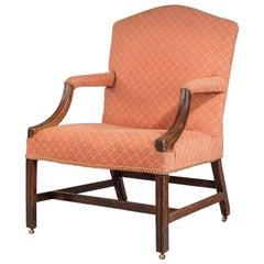 Chippendale Period Mahogany Gainsborough Chair Retaining the Original Surfaces