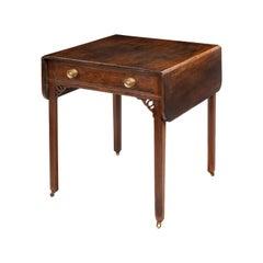 Chippendale Period Mahogany Pembroke Table