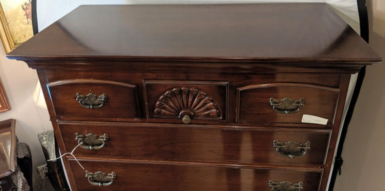 Chinese Chippendale Chippendale Queen Anne Two-Piece Chest on Chest by Monitor Furniture Company For Sale