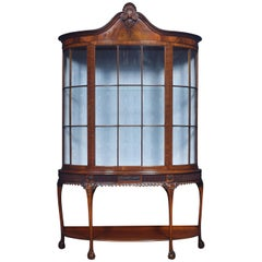 Chippendale Revival Mahogany Display Cabinet