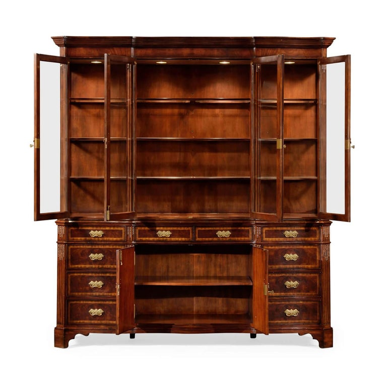 Chippendale Serpentine Mahogany Bookcase For Sale At 1stdibs