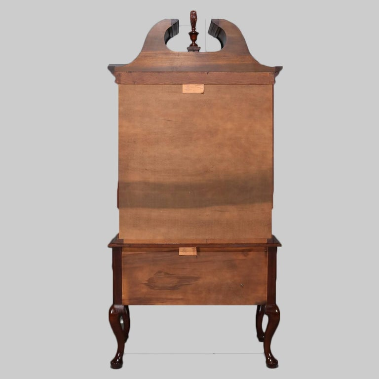 American Chippendale Style Chest On Mahogany Highboy By Henkel Harris 20th Century