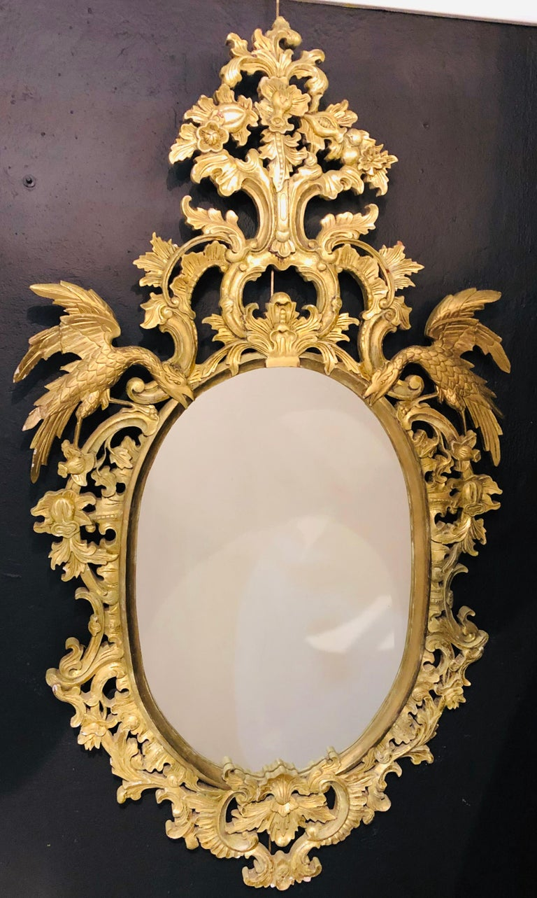 Chippendale Style Console, Wall or over the Mantle Mirrors, a Pair Italian For Sale 5